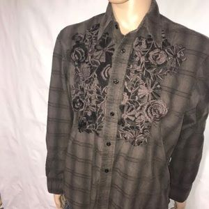 Roar Poplin Douce Men's XL Long Sleeve